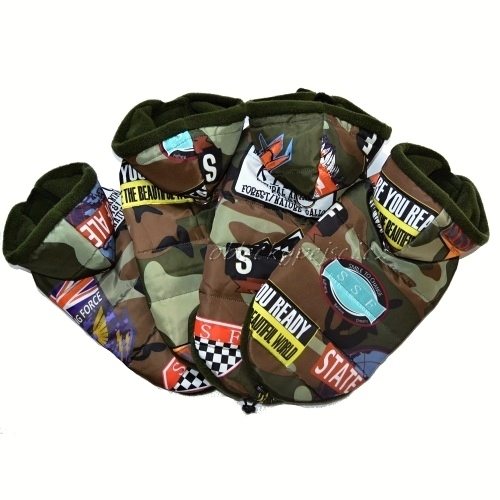 575c108f132 Zimní bunda pro psí kluky Army s kapucí